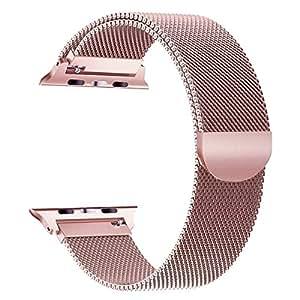 iBander Compatibil Cinturino per Apple Watch Series 3/2/1 38mm Loop in Maglia Milanese Acciaio Inossidabile con Chiusura Magnetica Regolabile