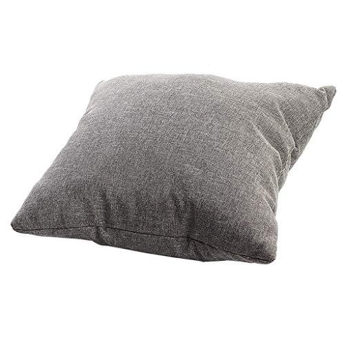 Deloito Einfarbig Doppelseitiges Kissen Kern Paletten Sitzkissen Rückenlehne Gesteppt Kopfkissenbezug Sofa Dekorativ Kissenhülle (Gray,40x40cm) -