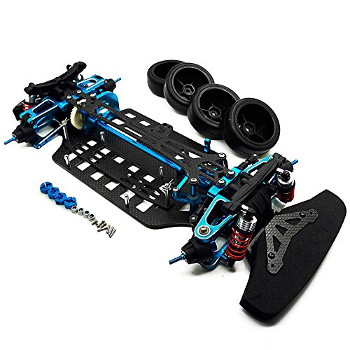XUNJIAJIE 1 Set Aluminium&Kohlefaser Wellenantrieb 4WD Touring Auto Rahmen Kit für TAMIYA TT01 RC Modell-auto