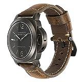 22mm 24 mm Correa de Reloj Vintage de Hecha a Mano de Cuero de Acero con Hebilla Estilo pre-V CHIMAERA