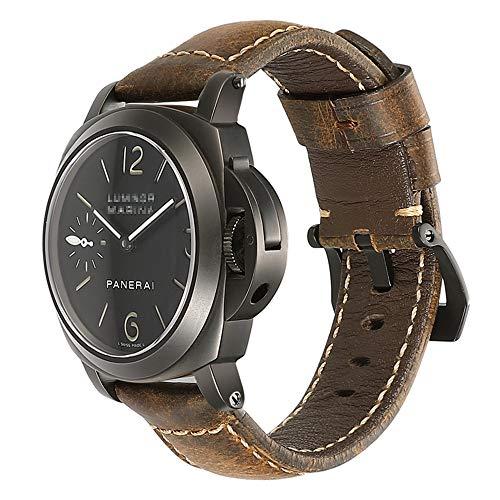 chimaea cinturino orologio 22mm 24mm uomo militare vintage pelle cinturino cinturino per fascia panerai marrone nero