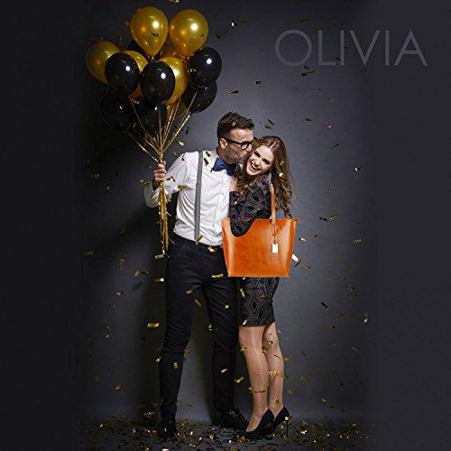 OLIVIA, Borsa a mano donna Nero nero marrone