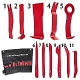 Mture Auto Demontage Werkzeuge, Demontage & Montage Werkzeuge 11 Stück Auto Zierleistenkeile-Set Türverkleidungs Lösewerkzeug Universal Auto Trim Werkzeuge (Rot)