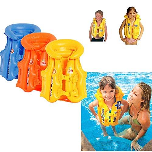 OUTERDO Kinder Aufblasbare Schwimmweste Rettungsweste Swim Vest Für Kinder 3 Farben