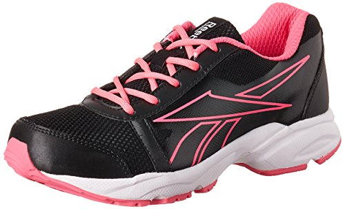Reebok Women's Sonic Run Black, Pink, Metallic Silver and White Running Shoes - 4 UK/India (37 EU) (6.5 US)  available at amazon for Rs.1599