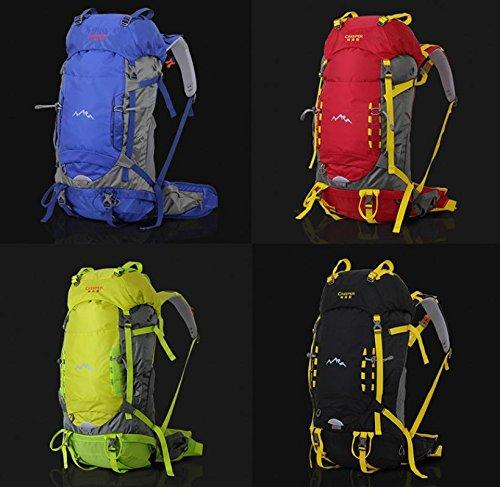 Uomini e donne viaggi outdoor alpinismo borsa 50 + 5 L borsa zaino escursionismo zaino outdoor professionale Pack , blue Black