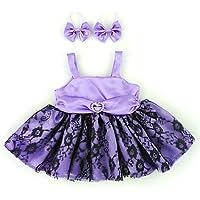 Build your Bears Wardrobe Osos Construir su Armario - Disfraz de Oso de Peluche en un 35-40 cm, Vestido de Baile con Dos Arcos, púrpura