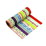 Washi Tapes Dekoratives Klebeband Aufkleber Papier Buntes Rollband Masking Tape 10er Set - LATH.PIN