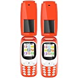 I KALL K3312 Red Dual Sim Flip Mobile With Vibration Feature, 1000 MAh Battery Capacity With 101 Days Replacement Warranty With 1 Year Manufacturer Warranty - Red