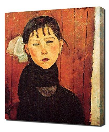 Amedeo Modigliani Kunstdruck (Lilarama Amedeo Modigliani Marie - Art Leinwandbild - Kunstdrucke - Gemälde Wandbilder)
