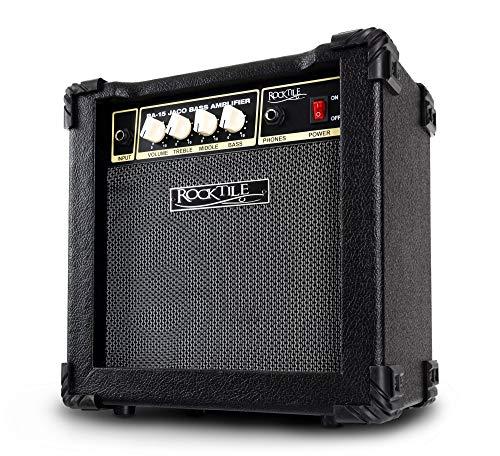 """Rocktile BA-15 Jaco Basscombo (Bassverstärker im Combo-Format mit 15 Watt Leistung, für aktive und passive Bässe, 6,5"""" Lautsprecher) schwarz"""