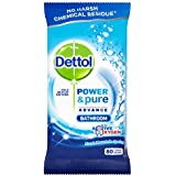 Dettol Power and Pure Bathroom 80 Wipes (Pack of 4)