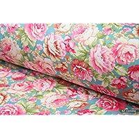 Shabby chic vintage rose 100% cotone tessuto