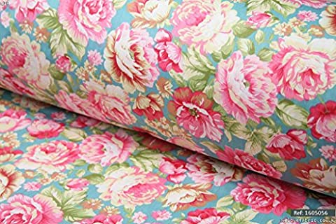 Shabby Chic Vintage Roses 100% cotton fabric 1.6m width - sold per meter