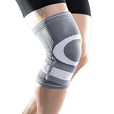 Liveup SPORTS Compression Knee Brace Support with Unibody Wraps Great for Knee Injuries Arthritic, ACL and Meniscus Tear Both for Men and Women LS5676-Single Packed