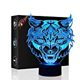 3d ilusión 7colores interruptor de luz decorativa lámpara luz nocturna jawell modelo por...