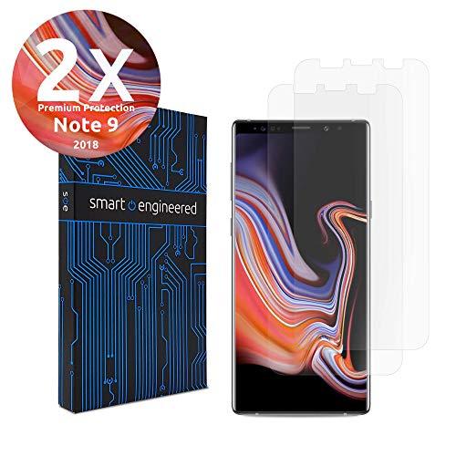2 Stück 3D Schutzfolien kompatibel mit Samsung Galaxy Note 9 - [Made in Germany - TÜV] - Hüllenfre&lich - Transparent - Selbstheilend - kein Glas oder Panzerglas sondern Panzerfolie TPU