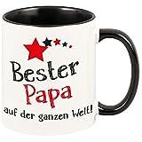 Geschenkartikel Tasse Bester Papa auf der ganzen Welt mit Sternen Kaffeetasse Becher Deko YD 3-001-1062