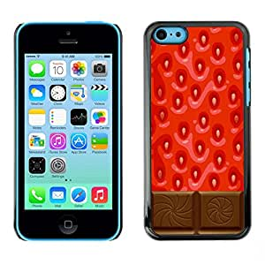 Omega Covers - Snap on Hard Back Case Cover Shell FOR Apple iPhone 5C - Chocolate Red Sweet Food