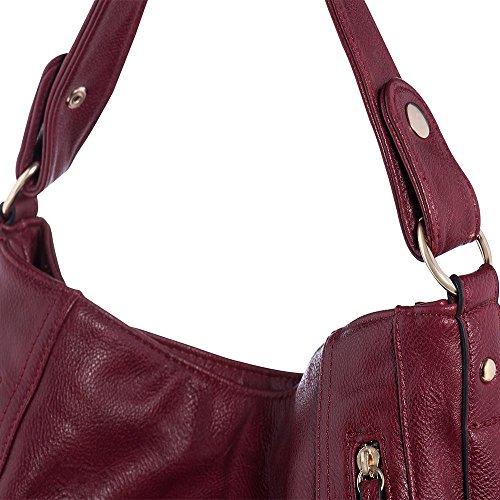 a098163b23660 ... UTAKE Damen Handtasche Umhängetaschen PU Leder Schultertaschen Frauen  Handtaschen Groß 38 30 12 cm