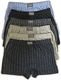 3//6//12 Mens Classic Sport Assorted Plain Colors Cotton Rib Boxer Shorts in S-5XL