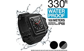 Catalyst Waterproof Apple Watch Case 42mm Series 2 & 3 With Premium Soft Silicone Apple Watch Band, Shock Proof Impact Resistant [rugged iWatch protective case], Gray