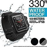 Catalyst Étui étanche pour Montre Apple Watch séries 3 42mm avec Bracelet en Silicone Souple de qualité supérieure, résistant aux Chocs et aux Éléments [étui Robuste iWatch Protective] - Gris