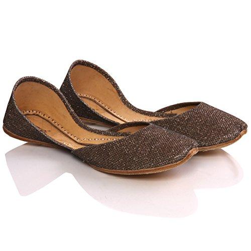 Unze Élégant plat slipons Journée de la femme de Anin ' Pompes Chaussures Brun