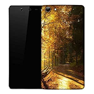 Snoogg Path in Forest Designer Protective Phone Back Case Cover for Micromax Canvas Selfie Q348