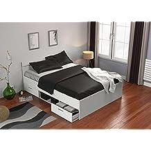 lit 140x190 avec sommier et matelas. Black Bedroom Furniture Sets. Home Design Ideas