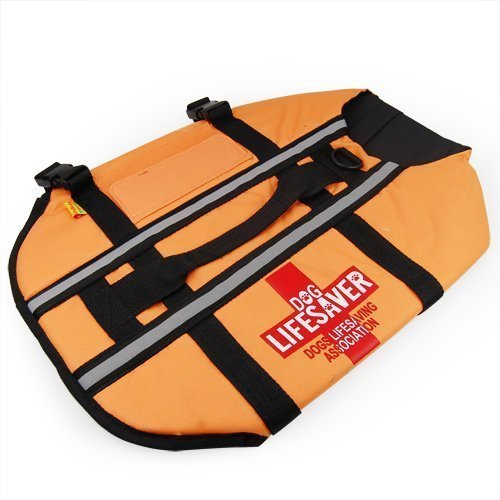 Accessotech Large Dog Life Jacket Vest Bouyancy Aid for Boating Sailing Swimming Swim Water