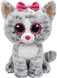 TY - Beanie Boos Kiki, peluche gatita, 15 cm, color gris (United Labels Ibérica 37190TY) , color/modelo surtid