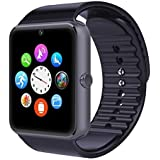 Mobiper® smart watch indossabile Smart Health Orologio da polso Telefono con slot per scheda SIM per Android Samsung HTC LG (Tutte le funzioni) IOS iPhone 5/5s/6/plus (Parte delle funzioni) (Nero)