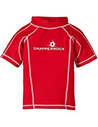 Snapper Rock Boy UPF 50+ UV Protection Short Sleeve Swim Shirt For Kids & Teens