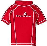 Snapper Rock Boy UPF 50+ UV Protection Short Sleeve Swim Shirt For Kids & Teens Red 4-5 years, 104-110cm