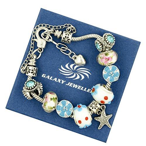charm-bracelet-toile-et-fleurs-cadeau-idal-pour-les-femmes-et-les-filles-livr-avec-bote-cadeau