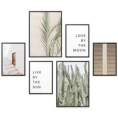 Heimlich® Premium Poster Set | Stilvoller Mix an passenden Bildern für Dein Zuhause | ohne Rahmen » Sun & Moon «