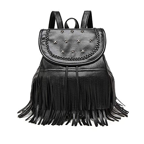 zearo-zearo-vintage-backpack-women-fringe-tassel-school-college-bags-casual-mini-pu-travel-hobo-bag-