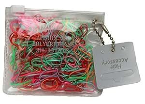Lot de 250 mini élastiques pour cheveux multicolore