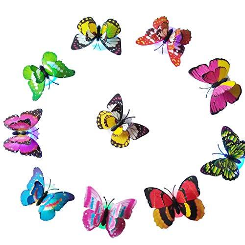 rnde Schmetterlings-LED-Nachtlicht-Lampen-Ausgangsraum-Partei-Schreibtisch-Wand-Dekor Nachtlicht Steckdose Kinderzimmer Tischlampe Deko Lichterkette außen ()