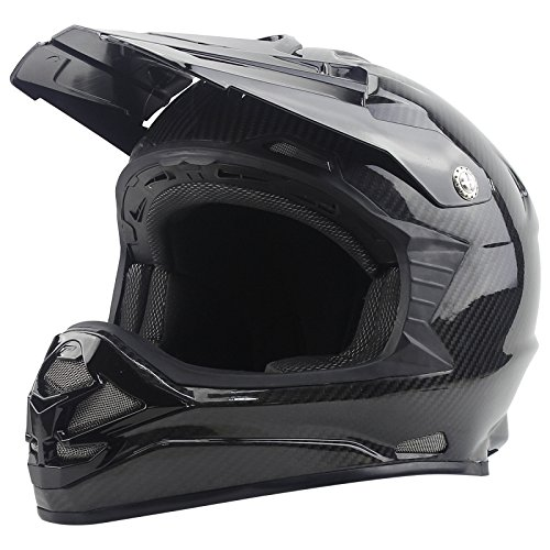 WANGJJJ Off Road Helm Motocross Dirt Bike Motorrad ATV Helm AM Mountain Bike Erwachsene Casco De La Motocicleta,Black-M(57-58CM)