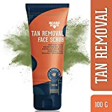 Beardhood Tan Removal Face Scrub with Moringa, Walnut Granules & Almond Oil, SLS