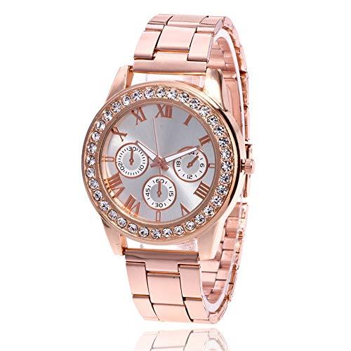 Damen Armbanduhren,Uhren für Damen Günstige Uhr Damen Klassisch Casual Analoge Quarz Uhr Luxus Armband Uhren Edelstahl Armbanduhr Business Sport Uhren für Mädchen Frau