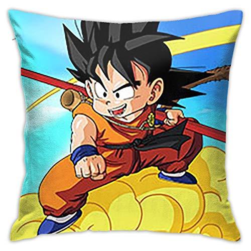 Greatbe Wurfkissenbezüge Dragon Ball Z Beide Seiten Drucken Reißverschlussabdeckung Für Couch Sofa Decor Kissenbezüge 18 X 18 Zoll (Ball Dragon Z $10 Unter)