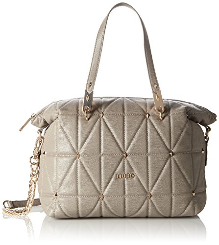 Liu Jo Damen Boston Bag Bowlingtaschen, Grau (Tortora 71212), 31 x 23 x 17 cm (Boston Elegante Bag)