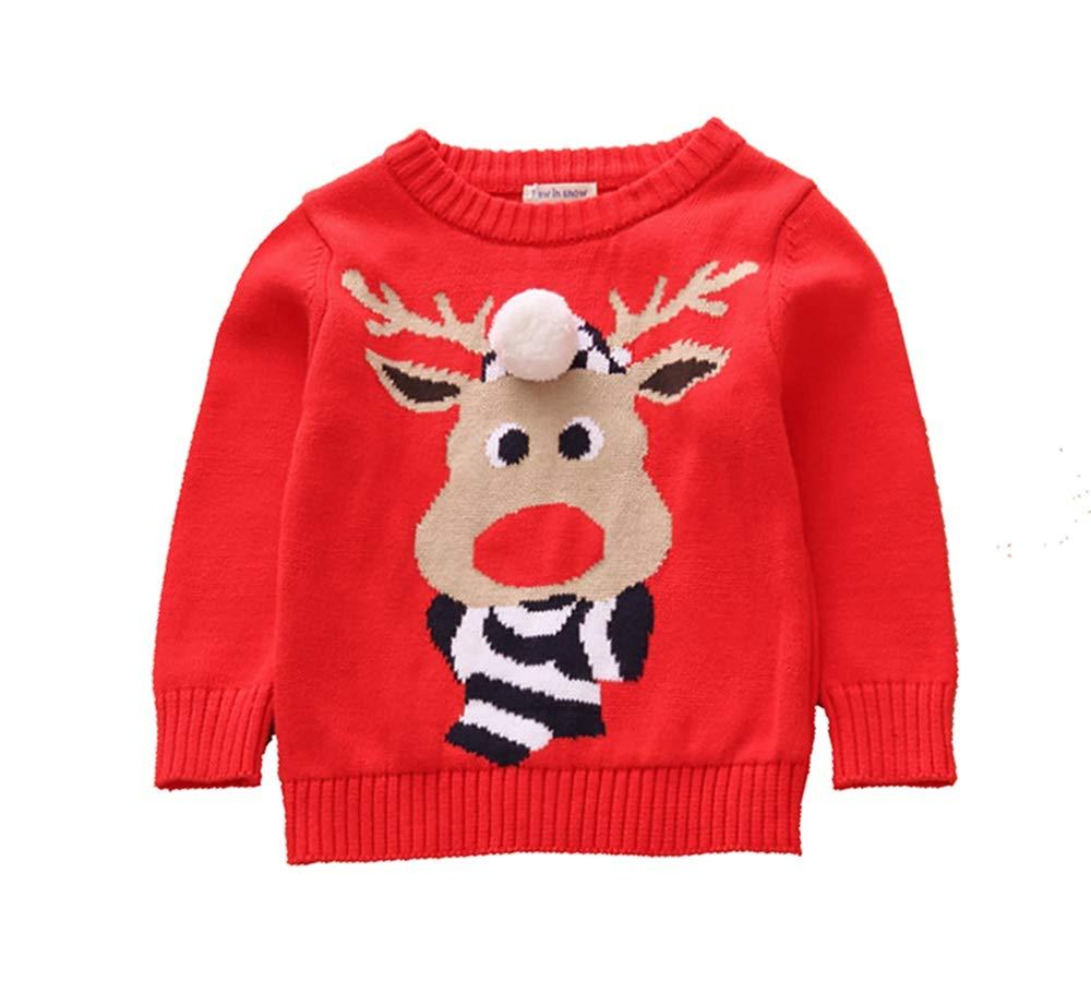 Toctax Suéter de Bebé Navidad Dibujos Animados de Jersey de Navidad Bordado Prendas de Punto Espesar Suéter Jersey de… 1