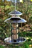 Vogelfutterspender Vogelfutterhaus aus Metall Bird´s Heaven Vogelhaus für Meisenknödel Vogelfutter - 4