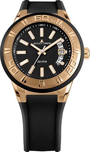 Jacques Lemans Unisex Erwachsene Armbanduhr Multi Zifferblatt Quarz Silikon 1-1784G