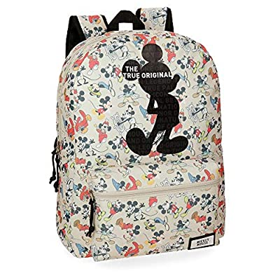 Disney True Original - Mochila escolar, 42 cm, 21.5 litros, Multicolor de Disney