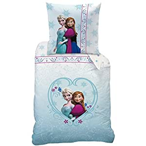disney frozen 042654 bettw sche nordic baumwolle linon 135 x 200 und 80 x 80 cm. Black Bedroom Furniture Sets. Home Design Ideas